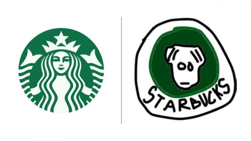 10 известных логотипов, нарисованных по памяти - 1