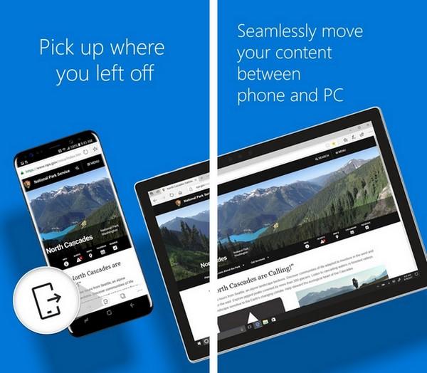 Браузер Microsoft Edge можно свободно скачать в Google Play и App Store