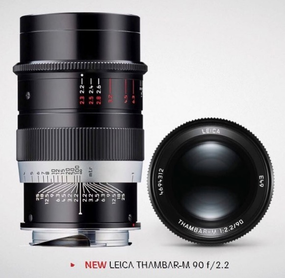 Когда будет выпущена новая версия объектива Leica Thambar-M 90mm f/2.2 — пока неизвестно