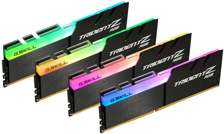 В модулях, украшенных полноцветной подсветкой, используются микросхемы DRAM DDR4 производства Samsung