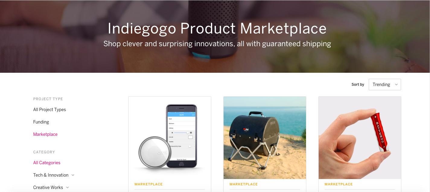 Краудфандинговая площадка Indiegogo открывает маркетплейс инновационных товаров - 2