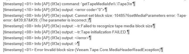 Разбор кейса про изменение настроек размера блока данных для записи на ленту с Veeam Backup & Replication - 2