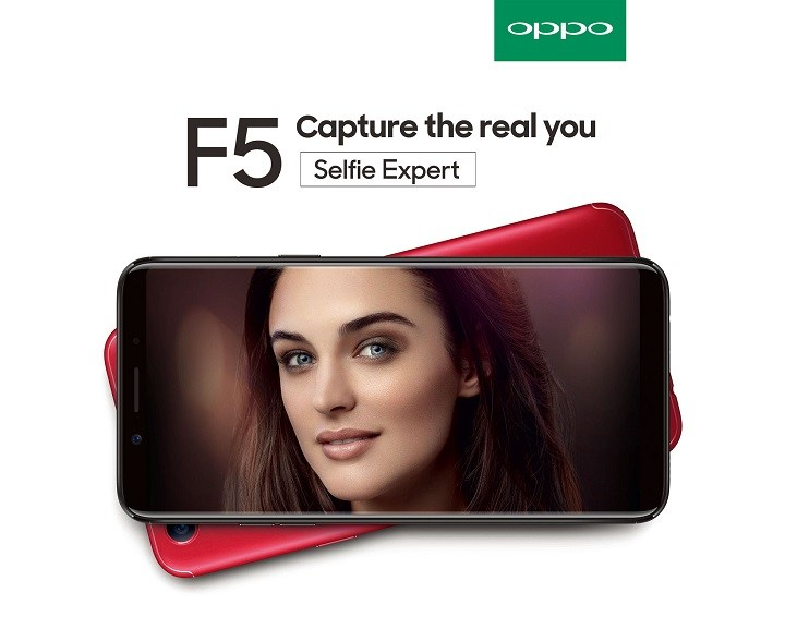 Смартфон Oppo F5 получил сдвоенную фронтальную камеру разрешением 12 Мп
