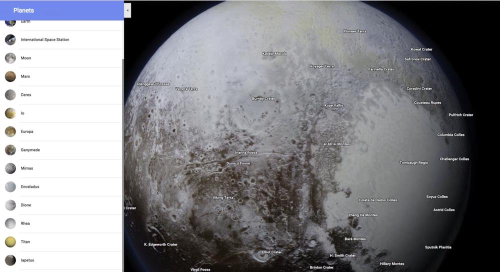 В Google Maps появились карты планет и спутников Солнечной системы - 2