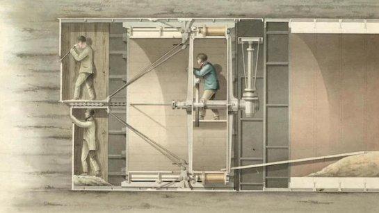 В продажу поступит историческая планировка первого в мире подводного туннеля