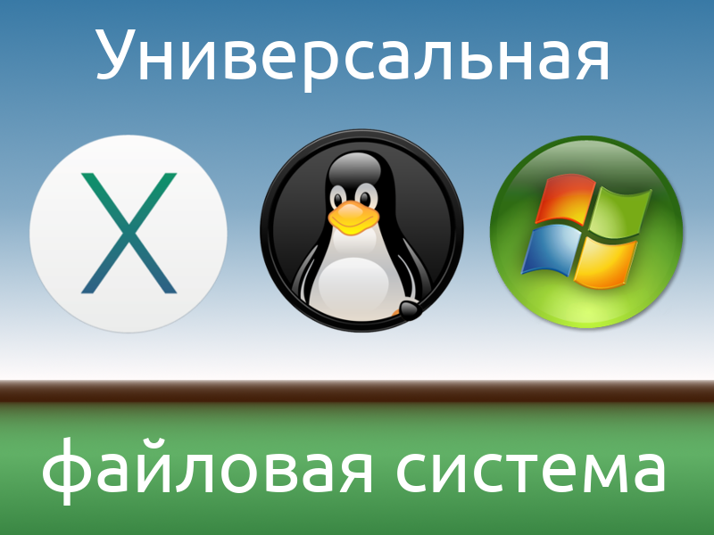 Выбираем файловую систему независимую от ОС - 1