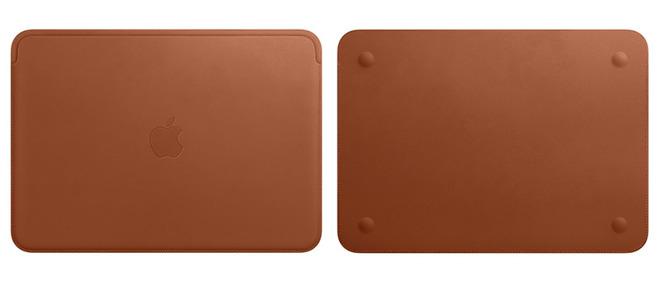 Apple представила фирменный кожаный чехол для MacBook