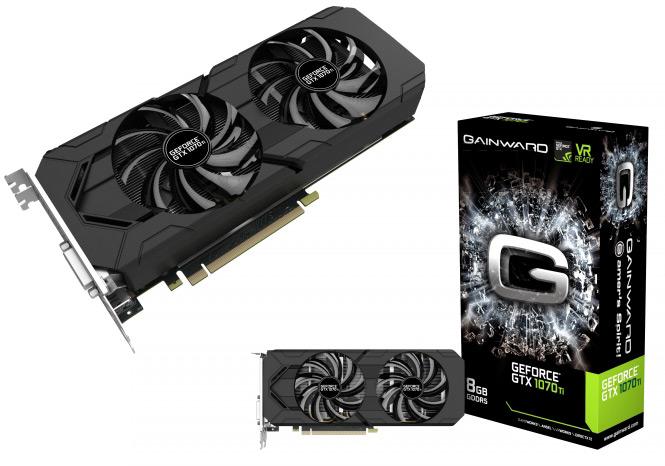 Серия 3D-карт Gainward GeForce GTX 1070 Ti включает две модели