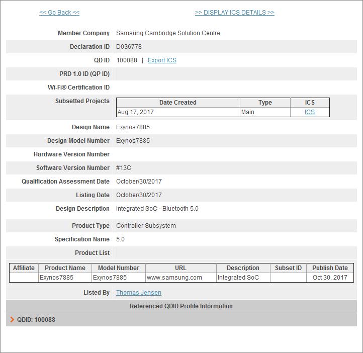 Основой Samsung Galaxy A5 (2018) и A7 (2018) послужит однокристальная система Samsung Exynos 7885