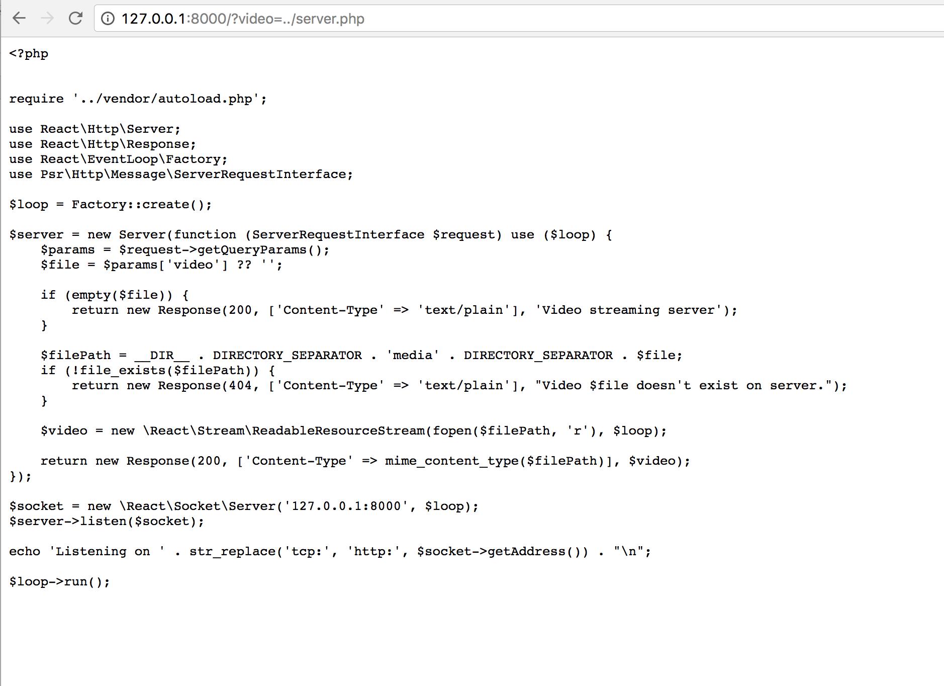 Создаем сервер для потокового видео: глава из книги по PHP от нашего разработчика - 7