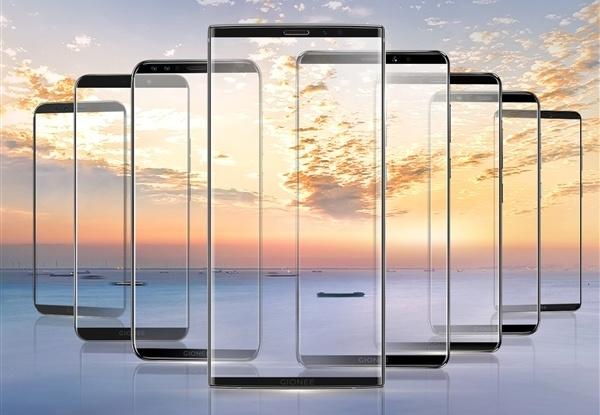26 ноября Gionee обещает показать сразу 8 смартфонов с узкими рамками и соотношением сторон 18:9