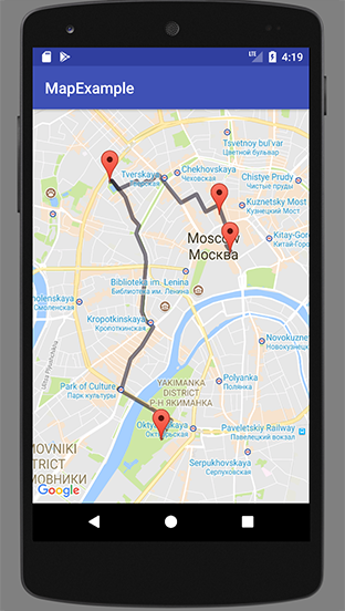Android phone screenshot with walking mode path