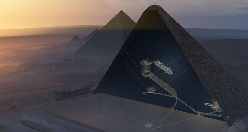 В пирамиде Хеопса обнаружили большое помещение - 1