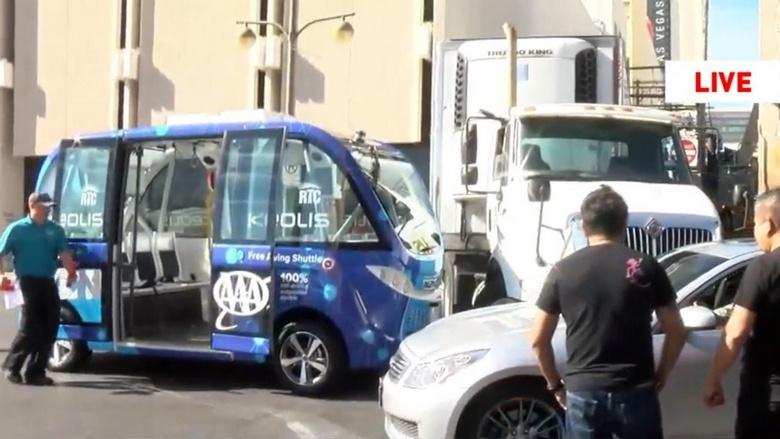 Беспилотный автомобиль Navya попал в ДТП в США