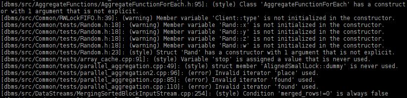 Статические анализаторы кода на примере ClickHouse - 2