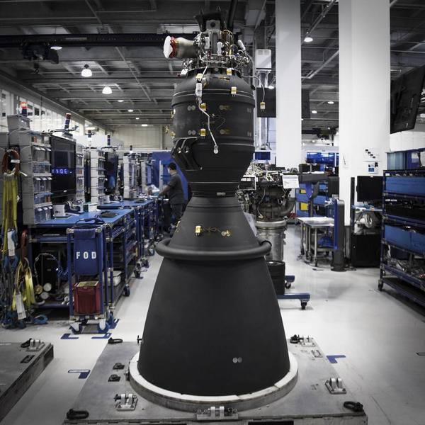 Новый двигатель SpaceX Merlin взорвался во время испытаний