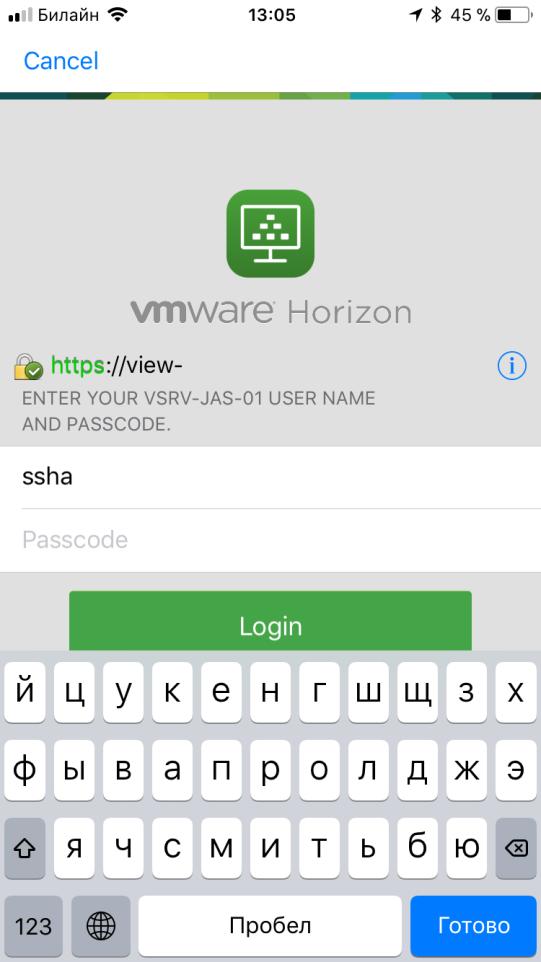 Настройка двухфакторной аутентификации в VMware Horizon View 7 c использованием OTP и сервера JAS - 14
