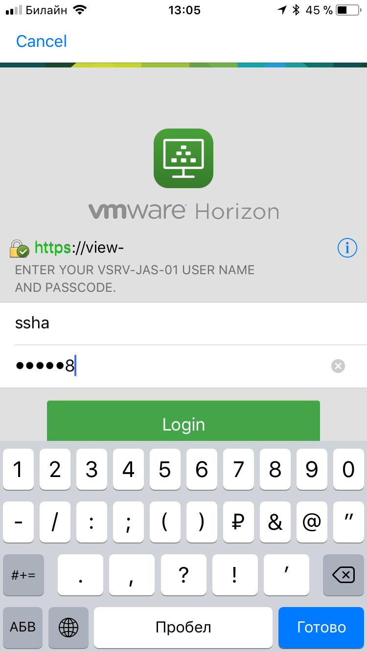 Настройка двухфакторной аутентификации в VMware Horizon View 7 c использованием OTP и сервера JAS - 16