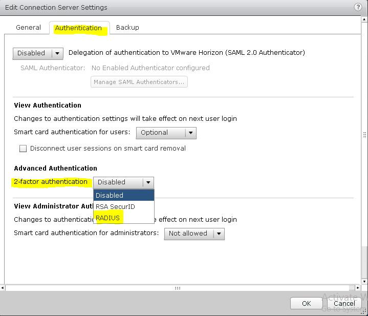 Настройка двухфакторной аутентификации в VMware Horizon View 7 c использованием OTP и сервера JAS - 4