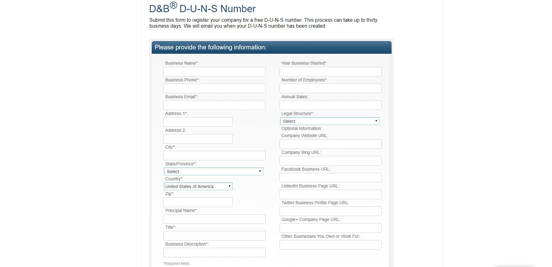 Как получить D-U-N-S number бесплатно - 5
