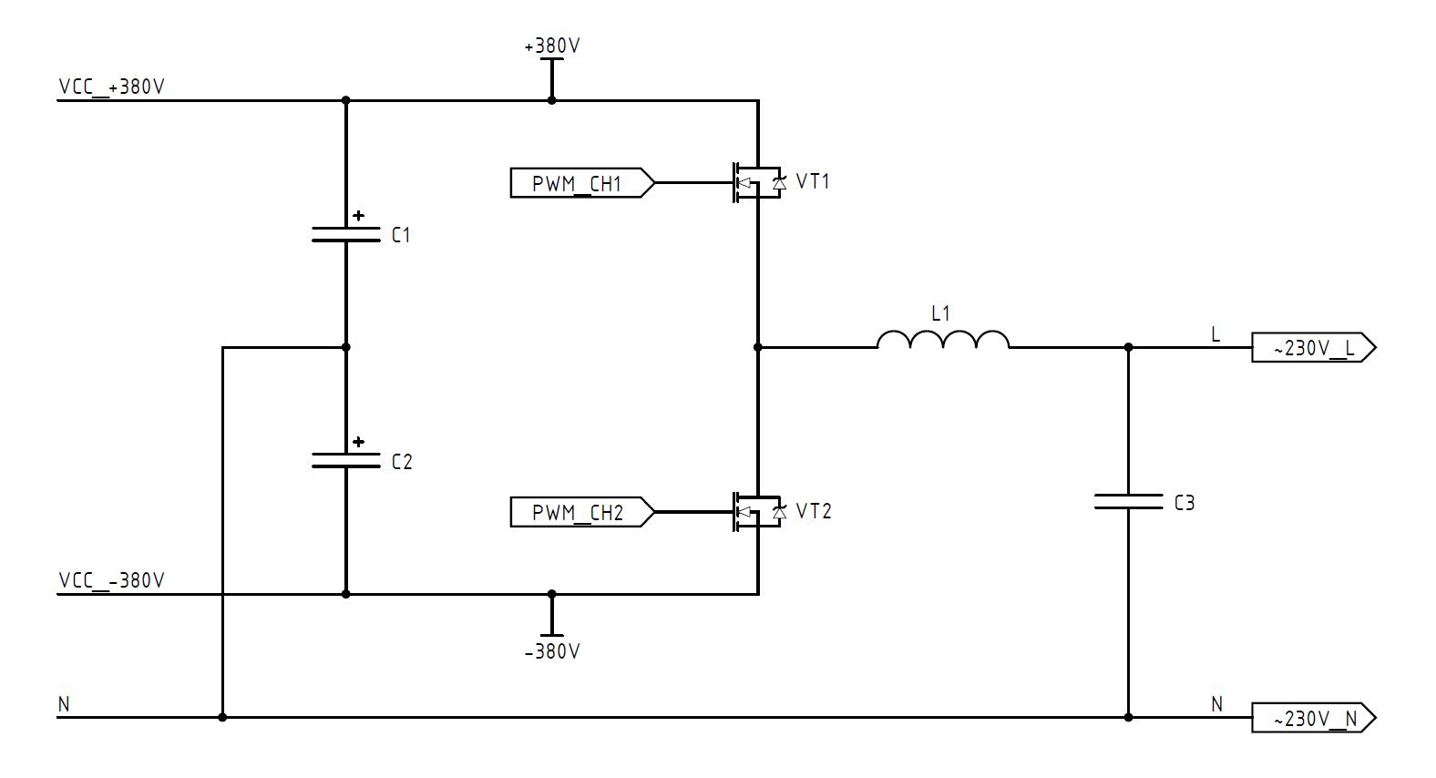 DC-AC инвертор: принцип работы, схемотехника, встроенное ПО - 2