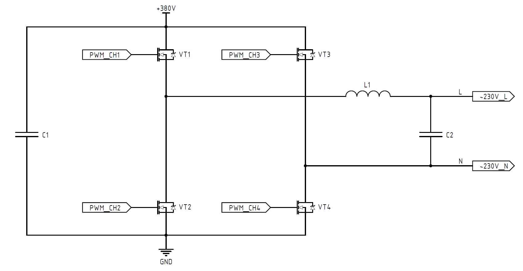 DC-AC инвертор: принцип работы, схемотехника, встроенное ПО - 3