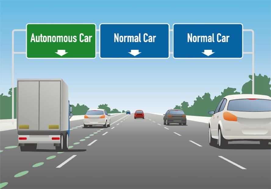 На шоссе I-94 в Висконсине планируют выделенную полосу для робомобилей - 1