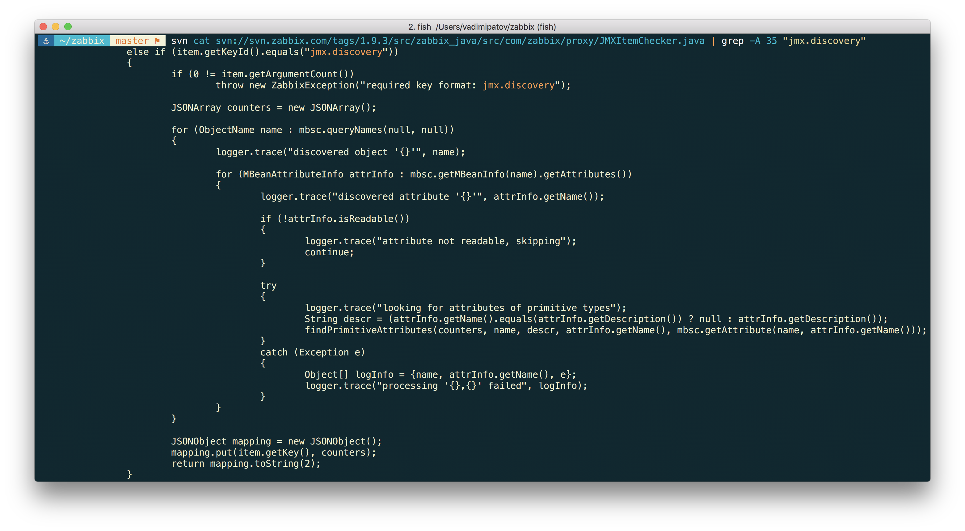Новые возможности мониторинга Java приложений в Zabbix 3.4 - 12