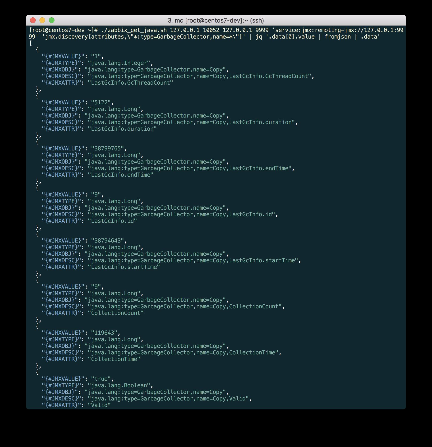 Новые возможности мониторинга Java приложений в Zabbix 3.4 - 13
