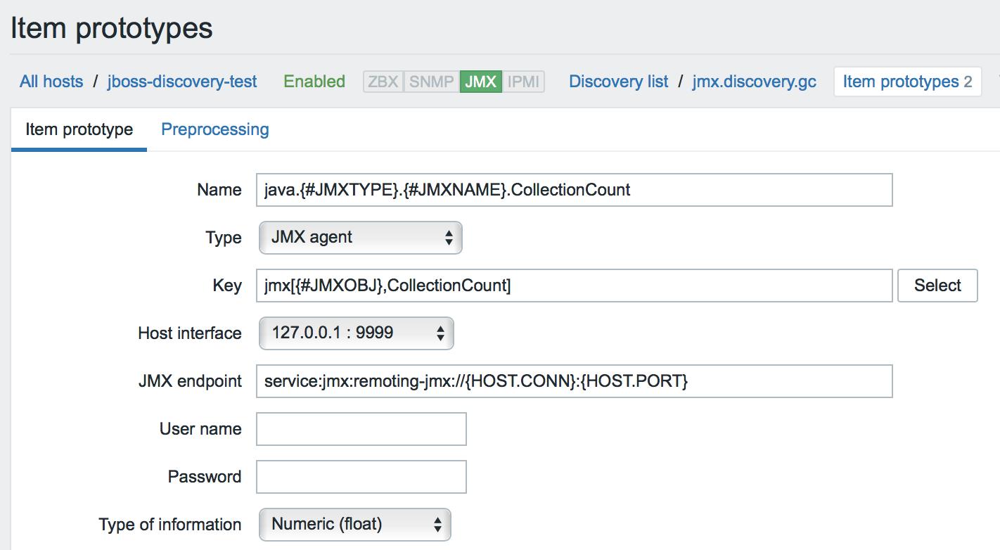 Новые возможности мониторинга Java приложений в Zabbix 3.4 - 16