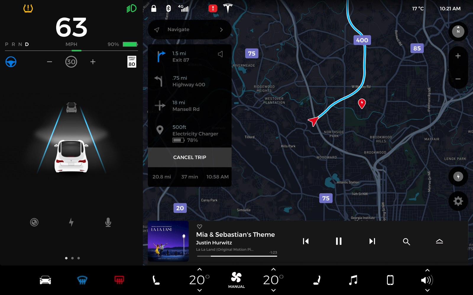 Футуристический пользовательский интерфейс новой Tesla Model 3 - 6
