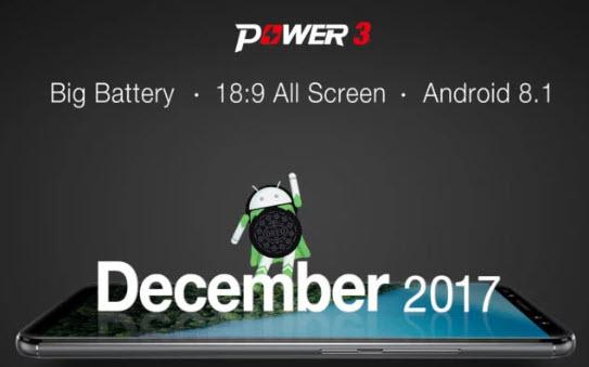 Ulefone Power 3 станет первым долгоиграющим смартфоном, который получит Android 8.1 Oreo из коробки