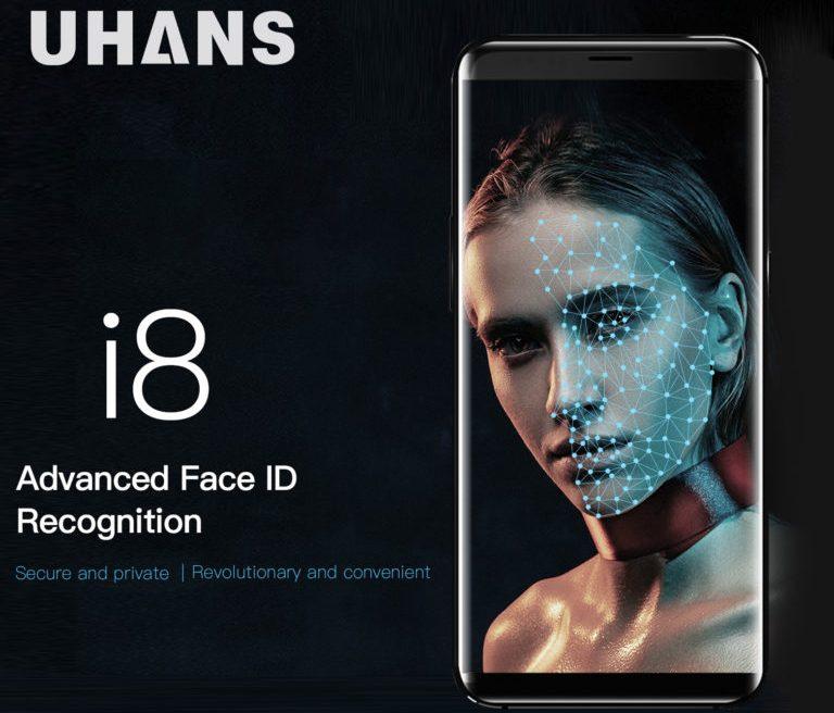 Бюджетный смартфон Uhans i8 получил систему распознавания лиц пользователей