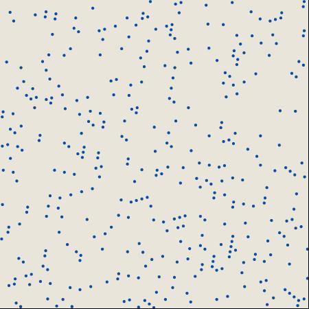 394 pseudorandom dots on a skewed 60-by-60 grid