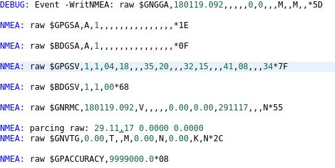 Парсинг NMEA GNSS для микроконтроллеров и встраиваемых систем - 1