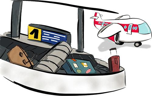 Багажная карусель в аэропорту