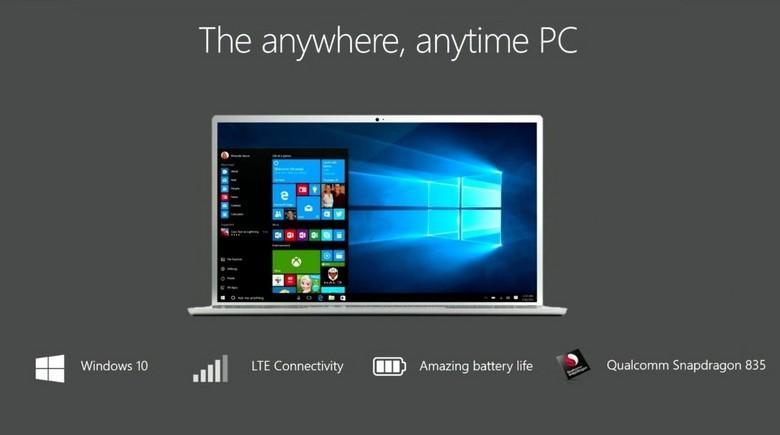 Always Connected PC смогут быть основаны не только на платформах ARM
