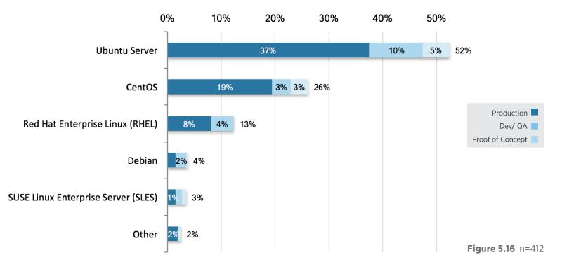 Статистика популярности операционных систем в IaaS: Ubuntu пока номер один, популярность CentOS растет - 1