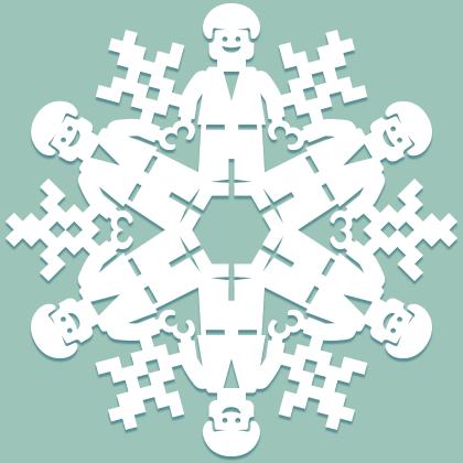 Снежинки в стилистике… своими руками (upd. 2017) - 27