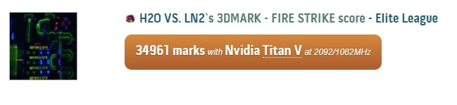 Частотный предел Nvidia Titan V по ядру лежит в районе 2100 МГц