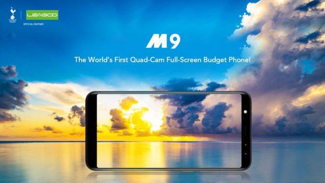 Полноэкранный смартфон Leagoo M9 с четырьмя камерами стоит $80