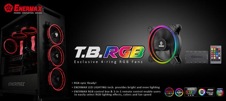Вентиляторы Enermax T.B. RGB будут продаваться наборами по три и шесть штук