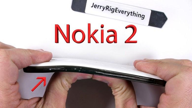 Nokia 2 прошёл тесты JerryRigEverything, но прочность модели не эталонна