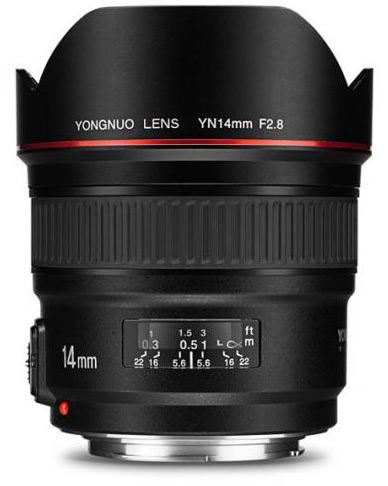 Представлен объектив Yongnuo YN14mm F2.8