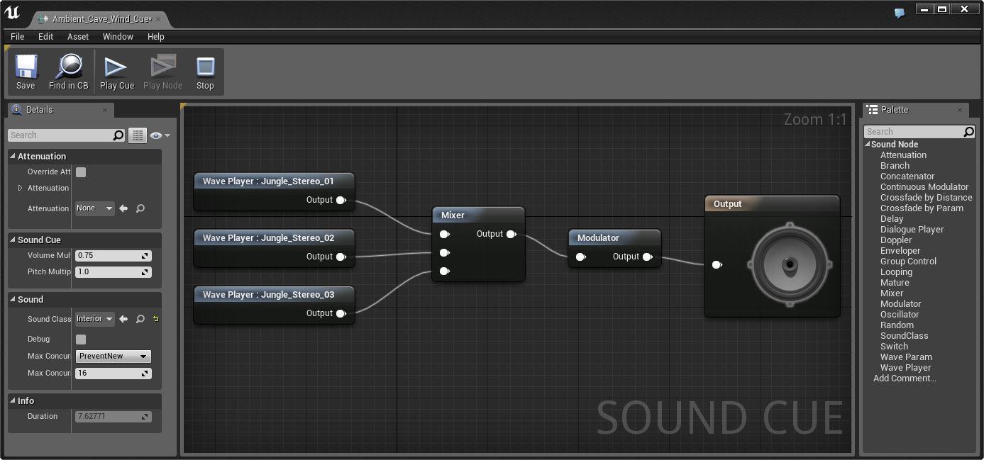 Туториал по Unreal Engine. Часть 7: звук - 1