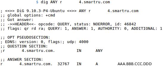 DNS запись для IPv4 адреса