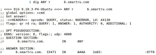 DNS запись для IPv6 адреса
