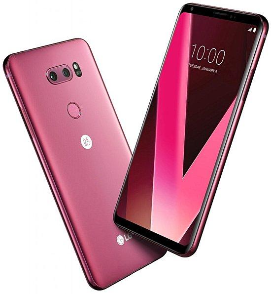 Представлен смартфон LG V30 в цвете Raspberry Rose