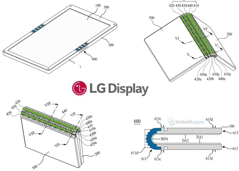 LG Display конструкцию устройства со сгибающимся дисплеем, возможно, для нового iPhone