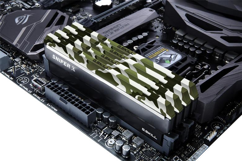 Радиаторы модулей памяти G.Skill Sniper X DDR4 украшены камуфляжем